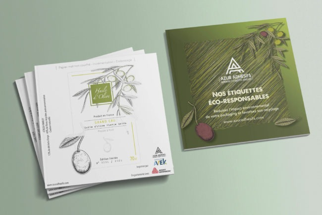 Azur Adhésifs met la nature dans ses étiquettes avec des déchets de céréales et de fruits